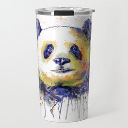 Colorful Panda Head Travel Mug