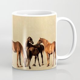 Classical Master Piece Circa 1762  Rockingham Mares and Foals by George Stubbs Coffee Mug