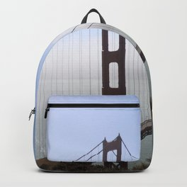 Golden Gate Bridge On A Foggy Morning Backpack