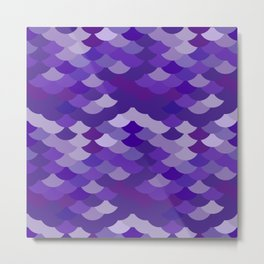 Ultra Violet wave, abstract simple background with japanese seigaiha circle pattern Metal Print