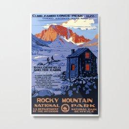 Rocky Mountain Vintage Travel Poster Metal Print