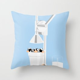 Milkmaid 5000 Throw Pillow