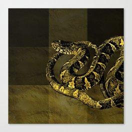 Gold and Black Snake Digital art Canvas Print