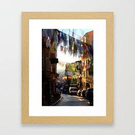 Street in Istanbul Framed Art Print
