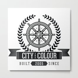 City and Colour Metal Print