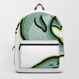 Angry Narwhal Mascot Backpack