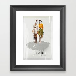 Invisible | Collage Framed Art Print