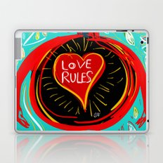 Love Rules Street Art Graffiti Pop Laptop & iPad Skin