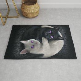 Yin Yang Cats Pattern Carbon Rug
