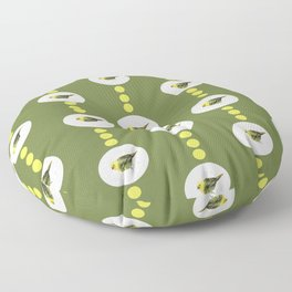 Mr Mohua , yellowhead New Zealand native bird Floor Pillow