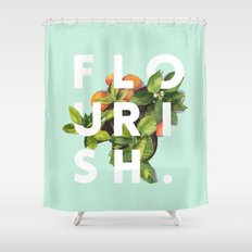 Flourish #society6 #buyart #typography #artprint Shower Curtain