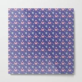 lavanda butterflies Metal Print