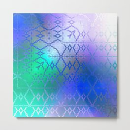 Summer of Retro (blue-green-purple) Metal Print