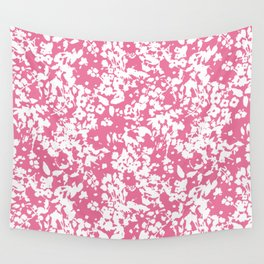 Cottage Charm Pink Wall Tapestry