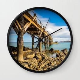 Way to the island. Wall Clock