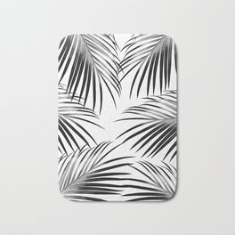 Black Palm Leaves Dream #2 #tropical #decor #art #society6 Bath Mat