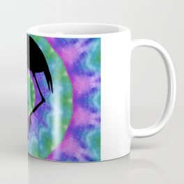 Colorful Retro Tie Dye with Flamingo Coffee Mug