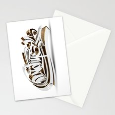 3D GRAFFITI - NO TIME Stationery Cards