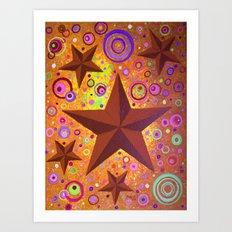 Stars & Circles  Art Print