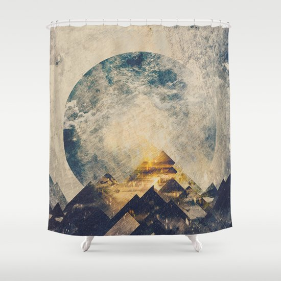 One Mountain At A Time Shower Curtain By HappyMelvin