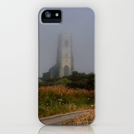 Ghostly Happisburgh church in a sea fret iPhone Case