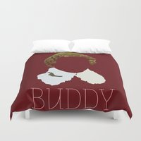 will ferrell Duvet Covers featuring Buddy the Elf and you by Ally Simmons