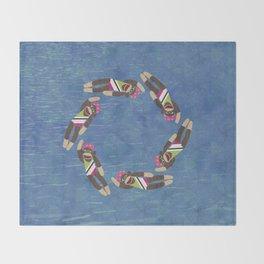 Sock Monkey Water Ballet Throw Blanket