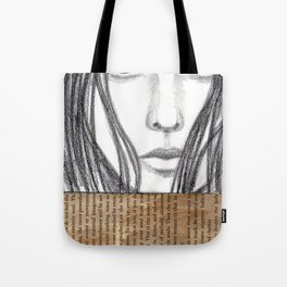 Reading a book Tote Bag