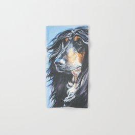 Afghan Hound Beautiful Fine Art Dog Painting by L.A.Shepard Hand & Bath Towel