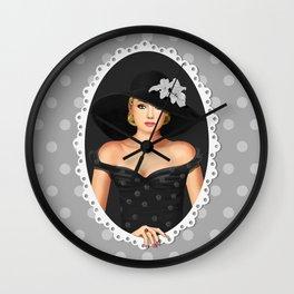 Romantic portrait Wall Clock