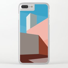 Coral space Clear iPhone Case