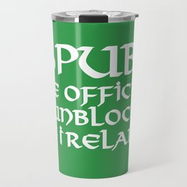Pubs, the official sunblock of Ireland Travel Mug