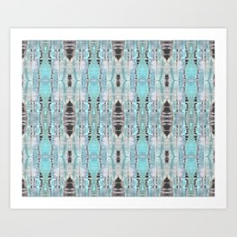 Pattern in Turquoise & Black Art Print