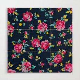 Raspberry Roses Wood Wall Art