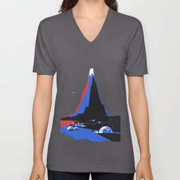 Asteroid Fly By Unisex V-Neck