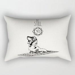 Dachshund Be Still Rectangular Pillow