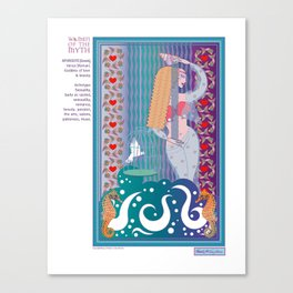 Women of the Myth Series: Aphrodite-Venus Canvas Print