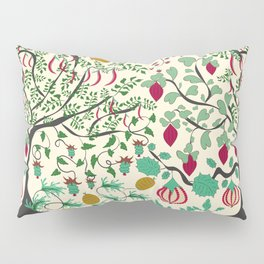 Fairy seamless pattern garden with plants, tree and flowers Pillow Sham
