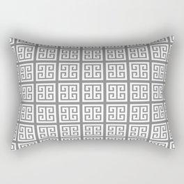 Gray Greek Key Pattern Rectangular Pillow