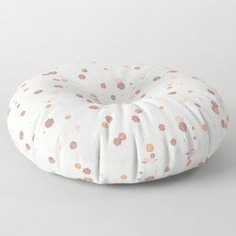 Ink Splashes | Earth Colors | Ink Dots Pattern Floor Pillow