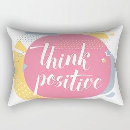 Think positive pink Rectangular Pillow