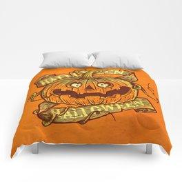 Halloween orange Comforters