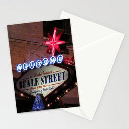 Beale Street, Memphis Stationery Cards