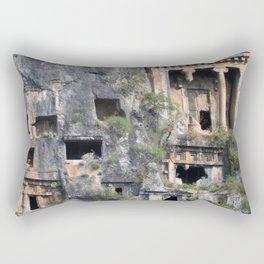 Rock Tombs Photograph Fethiye Rectangular Pillow