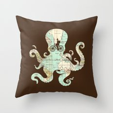 All Around The World Throw Pillow