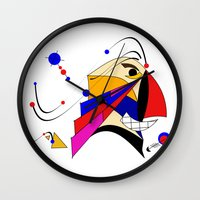 birdman Wall Clocks featuring Birdman by Charles Oliver