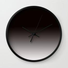 Faded Black Wall Clock