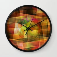 geo Wall Clocks featuring Geo by Christine baessler