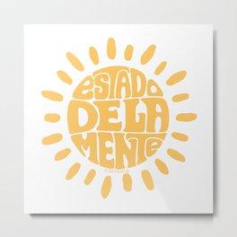 State of mind Pastel Orange Metal Print