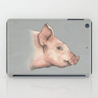 pig iPad Cases featuring Pig by Marta Bocos